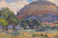 "Jacqueline Jones, ""Kitchen Mesa"", oil, 8x10, $1,100"