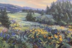 "Jacqueline Jones, ""Flowers of the Mountain"", oil, 20x30, $3,200"