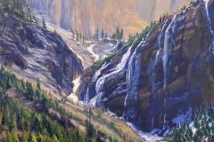"Jacqueline Jones, ""Upper Bear Creek"", oil, 30x30, $4,000"