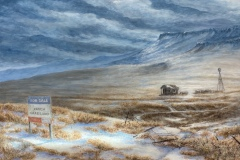 "Len Swec, ""Ranch for Sale"", acrylic, 16x24, $2,700"