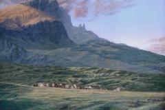 """Len Swec, """"Remote Village"""", acrylic, 16x24, $2,700"""