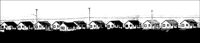 Dunn Days Cottages Truro photopolymer etching