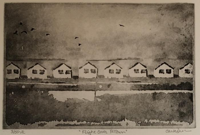 Dunn Flight Over P-Town photopolymer etching