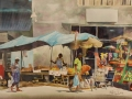 Eagle Street Market Bridgetown watercolor