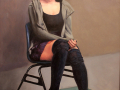 Mellot Mary girl in ruffled stockings