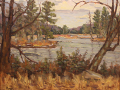 Rogan Michael frozen pond with pines