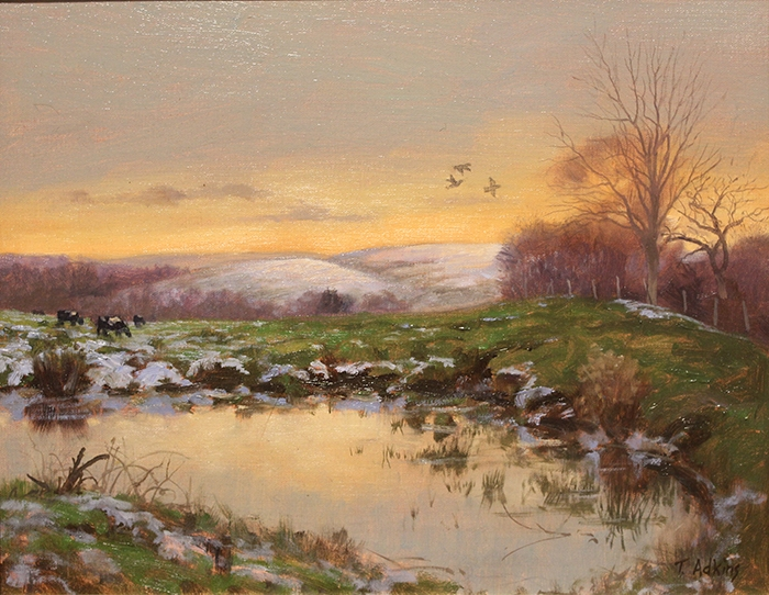 Adkins Thomas Twilight Farm Pond