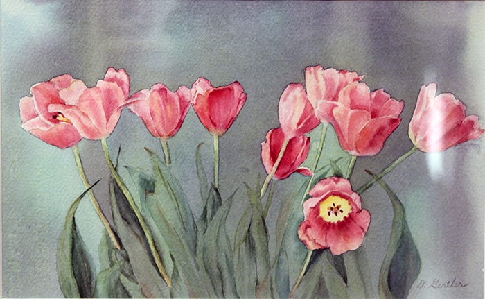 Gertler Donna Tulips in the Mist