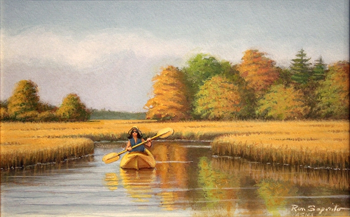 Saporito Ron Girl in the Yellow Kayak