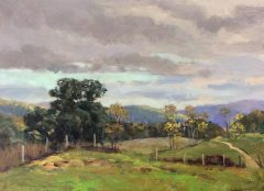 "Thomas Adkins, ""Bridgewater Land Preserve"", oil  , 9x12, $950"