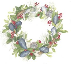 """Betsy Barry, """"Sea Wreath"""", colored pencil, 12x12, $600"""