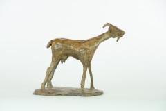 """Serena Bates, """"Scapegoat"""", bronze, 7x7x3.5, $1,500"""