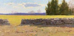 "Zufar Bikbov, ""The Sky over New England "", oil, 6x12, $750"