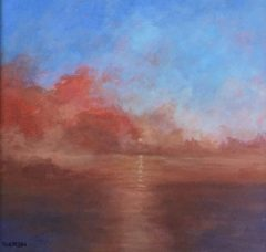 "Pamela Carlson, ""So Dawns The Day"", acrylic, 12x12, $275"