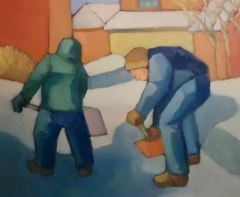 "Michael Centrella, ""Opening the Road"", oil, 20x24, $1,100"