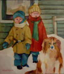 """Michael Centrella, """"Winter Gothic"""", oil, 16 x 14, $800"""