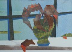 "Maura Cochran, ""Coleus Cuttings"", collage, 8x11, $225"