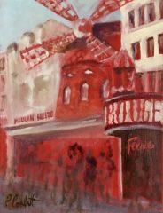 "Patricia Corbett, ""An American in Paris"", oil, 7x5, $375"