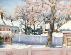 "Patricia Corbett, ""Backyard Bliss"", oil, 11x14, $950"