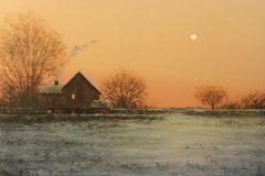 "Del-Bourree Bach, ""Early Morning"", acrylic, 6x6, $900"
