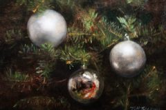 "Patt Baldino, ""Christmas Tree"", oil, 9x12, $950"