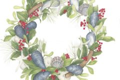 "Betsy Barry, ""Sea Wreath"", colored pencil, 12x12, $600"