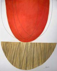 "Moya Aiken, ""We're Even'"", Oil, Graphite and Pastel, 30.5x39, $3,200"