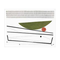 "Moya Aiken, ""Uphill'"", Oil, acrylic, pastel and graphite, 23.5x17, $1,600"