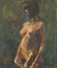 "Jack Broderick, ""Study"", oil, 20x16, $600"