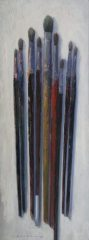 "Rick Daskam, ""Long Brushes #5"", Oil, 16x6, $1,200"