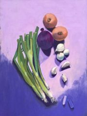 "Marianne Holtermann, ""Onions"", Pastel, 14x11, $350"