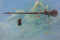 "Earl Grenville Killeen, ""In the Balance"", watercolor, , $2,600"