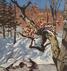 "Jim Laurino, ""Branch over Branch"", Oil/Canvas, 14x15, $1,300"