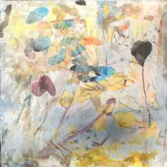 "Catherine Mansell, ""Spring Fling"", Mixed Media, Encaustic, 12x12, $350"