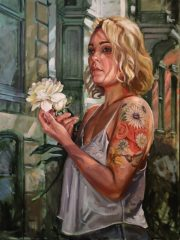 "Brian McClear, ""Gabrielle"", Oil on Canvas, 40x30, $3,800"