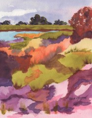 "Pamela Morgan, ""Summer To Fall"", Watercolor, 20x16, $475"