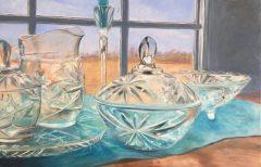 """Marilee B. Noonan, """"Pressed Glass"""", oil, 24x36, $600"""