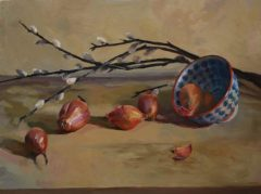 "Patrice Petricone, ""Shallots"", Oil, 12x16, $800"