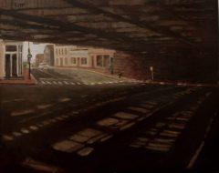 "Pamela Reese, ""SONO Underpass"", Oil, 16x20, $1,500"