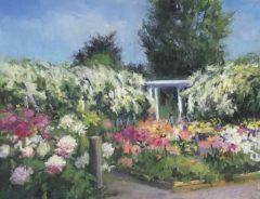 "Beverly Schirmeier, ""Florence Griswold In Bloom"", Pastel, 8x10, $350"