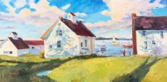 """Blanche Serban, """"The River of Time"""", oil, 12x24, $770"""