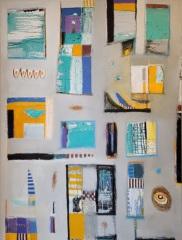 """Dennis Sirrine, """"Borough Life"""", oil/canvas, 48x36, $6,500"""