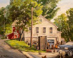 "Bill Sonstrom, ""Barnyard"", Oil, 16x20, $950"