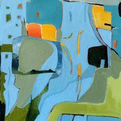 """Claudia VanNes, """"Harbor of Refuge"""", mixed medium, 12x12, $475"""