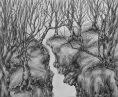 """Ruthie Viele, """"We're All Ded Across The Isle"""", graphite, 8x10, $450"""