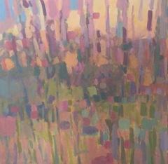 """Jane Zisk, """"Edge of Woods"""", acrylic, 30x30, $650"""