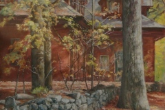 """Sharon Bahosh, """"Lancaster Carriage House"""", Oils, gallery wrapped canvas, 20x20, $2,500"""