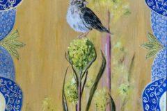 """Kathleen Burnett, """"A Tiny Sparrow"""", Oil, 20x30, $2,000"""