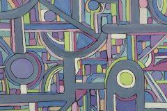 "Pamela Carlson, ""Convergence"", Acrylic, 24x24, $500"