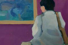 "Michael Centrella, ""Polynesian Art"", oil on card, 12x12, $400"